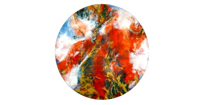 Bright - canvas 16x16 inches round (41 cms)