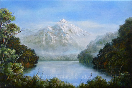 southern mountain oil painting