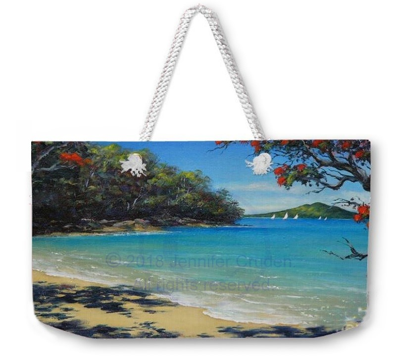 jennifer cruden print from oil painting on bag